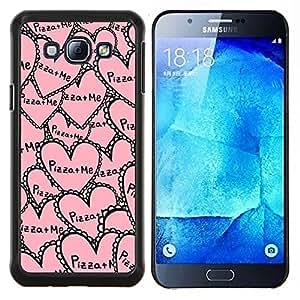 EJOOY---Cubierta de la caja de protección para la piel dura ** Samsung Galaxy A8 A8000 ** --aloha palmera mar océano verano