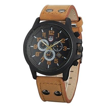Relojes Hombre,Xinan Bolso de Cuero del Deporte de la Correa Reloj Cuarzo Ejército (