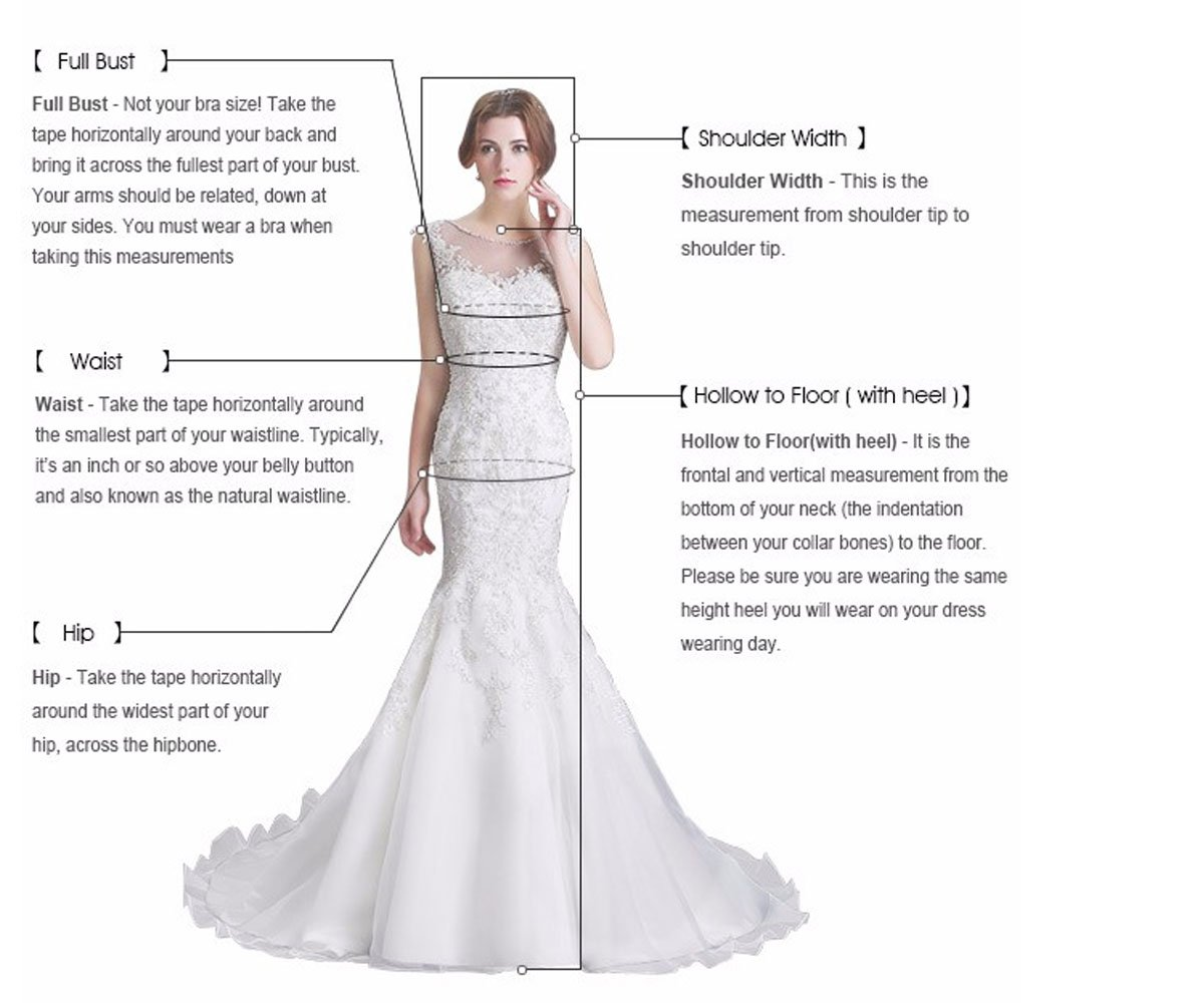 WuliDress Women's White Strapless Wedding Dresses for Bride Champagne Formal Evening Party Dress US18W by WuliDress