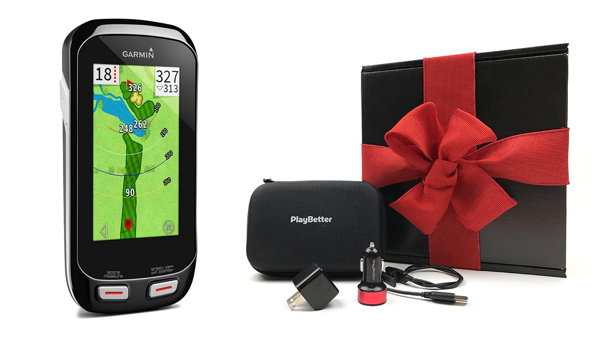 Garmin Approach G8 GIFT BOX Bundle | Includes Handheld Golf GPS, Belt Clip, PlayBetter Protective Case, PlayBetter Wall & Car USB Charging Adapters