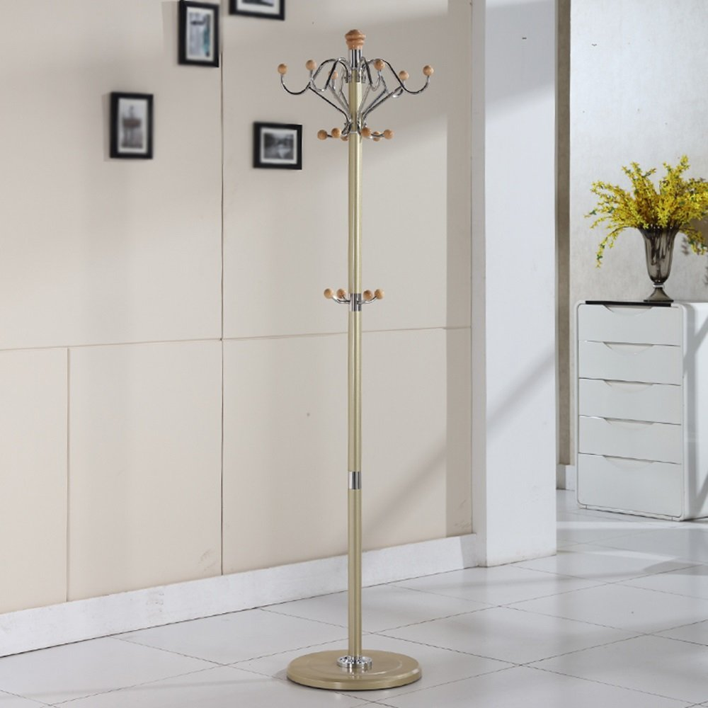 Coat Rack / Rotary Metal Fashion Hanger / Bedroom Modern Continental Clothes Combination / 360 ° Rotary Hook Stainless Steel (40 40 180cm) ( Color : Gold ) by Clothes hat shelf (Image #2)