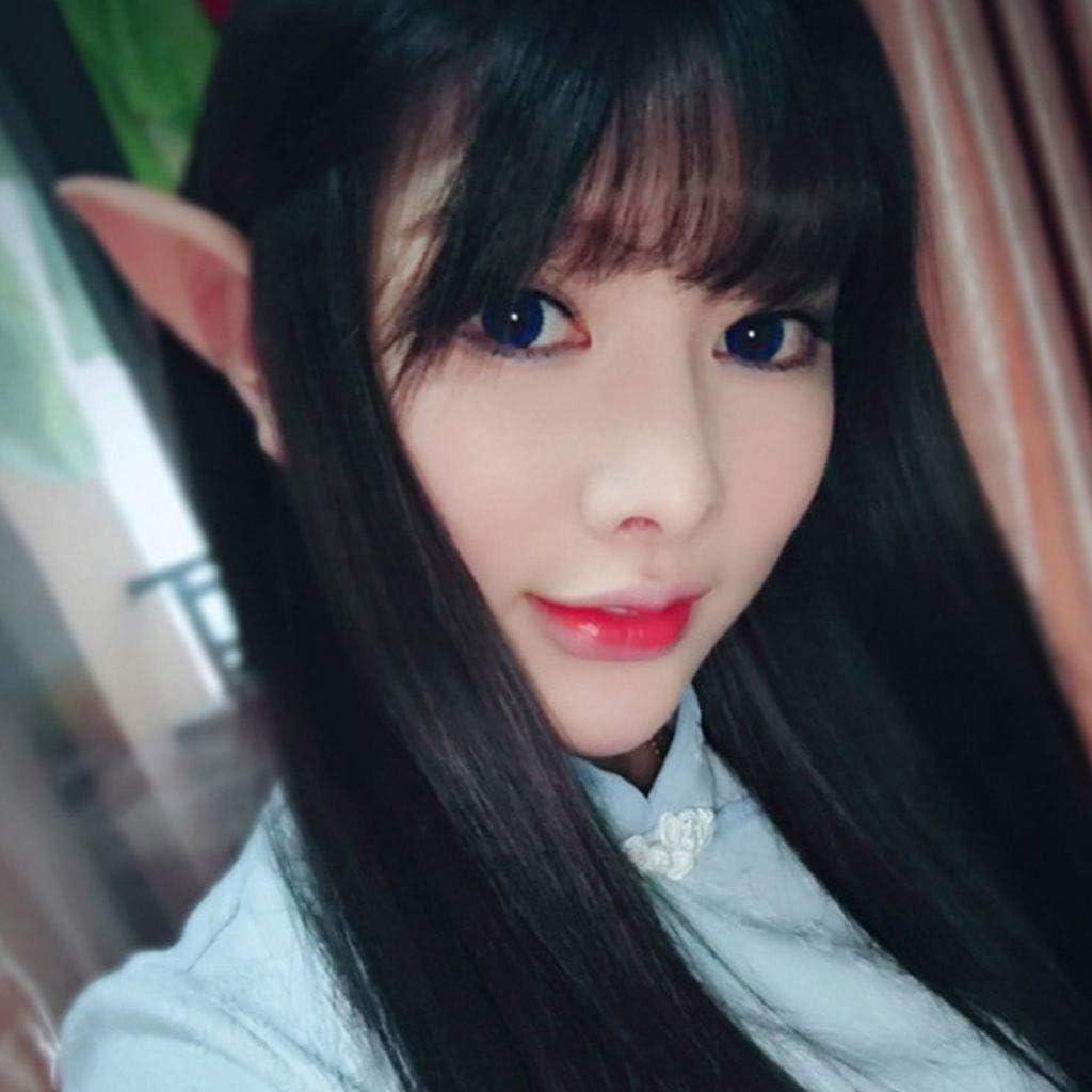 eletyuty Halloween Decorations 1 Pair Halloween Party Elven Elf Ears Anime Fairy Cospaly Costumes Vampire Latex Long
