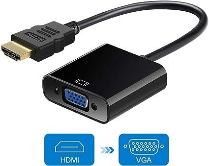 Excuty Convertidor HDMI a VGA 1080P Active HDTV HDMI a VGA ...