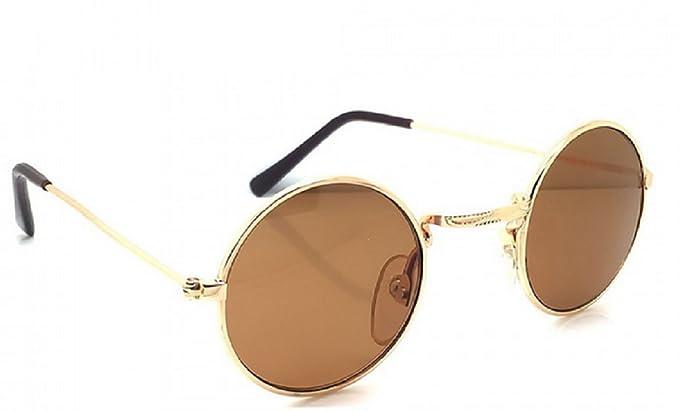 (Marrón) Gafas de sol - Redondas - Jhon Lennon - Hombres - Unisex -