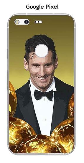 Onozo Carcasa Google Pixel Design Messi el balón de Oro: Amazon.es ...