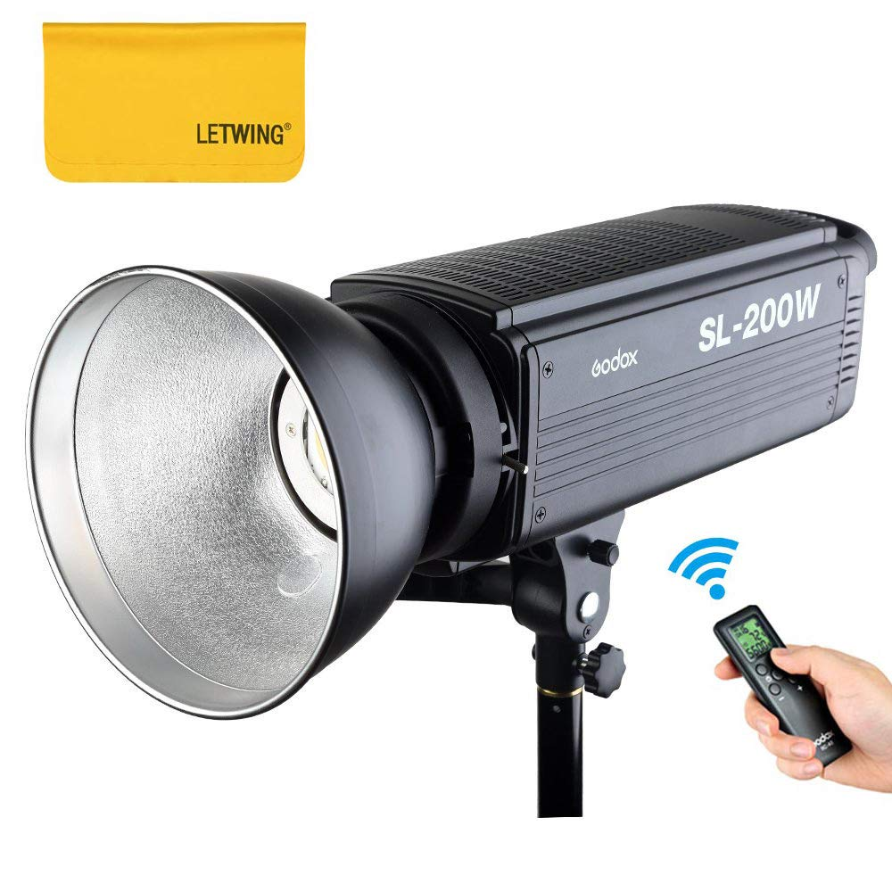 Godox SL-200W 200Ws 5600K LED Video Light Studio Continuous