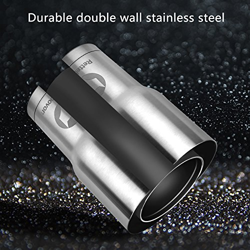 Rettebovon 30oz Stainless Steel Tumbler With Straw Lid and Handle For Coffee Cup Travel Mug Double Wall Stainless Steel Vacuum Insulated Water Bottle 7PCS Set For Keeping Ice-Cold And Hot by Rettebovon (Image #2)