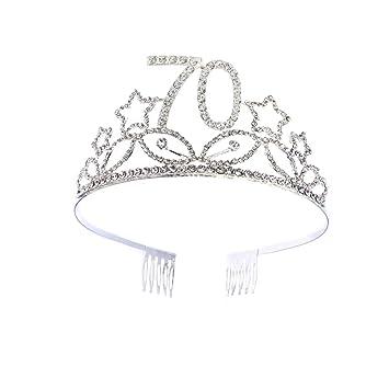 Beaupretty Corona Per Compleanno 70 Anni Cerchietto Diadema