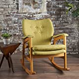 Bethany Mid Century Fabric Rocking Chair (Muted Green)