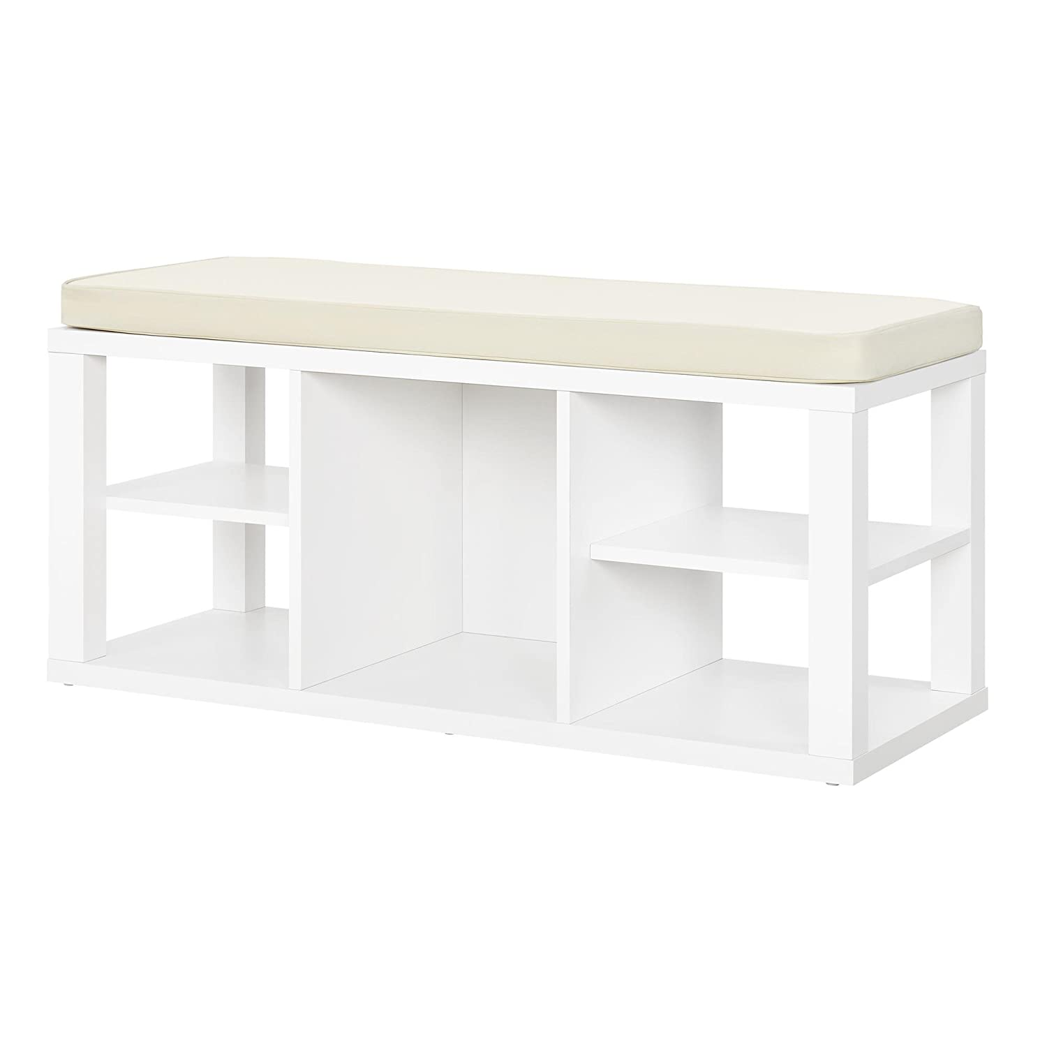 Astounding Ameriwood Home Parsons Storage Bench White Amazon Co Uk Gmtry Best Dining Table And Chair Ideas Images Gmtryco