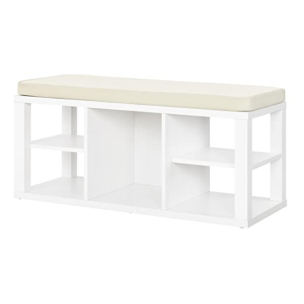 Ameriwood Home Parsons Storage Bench, White
