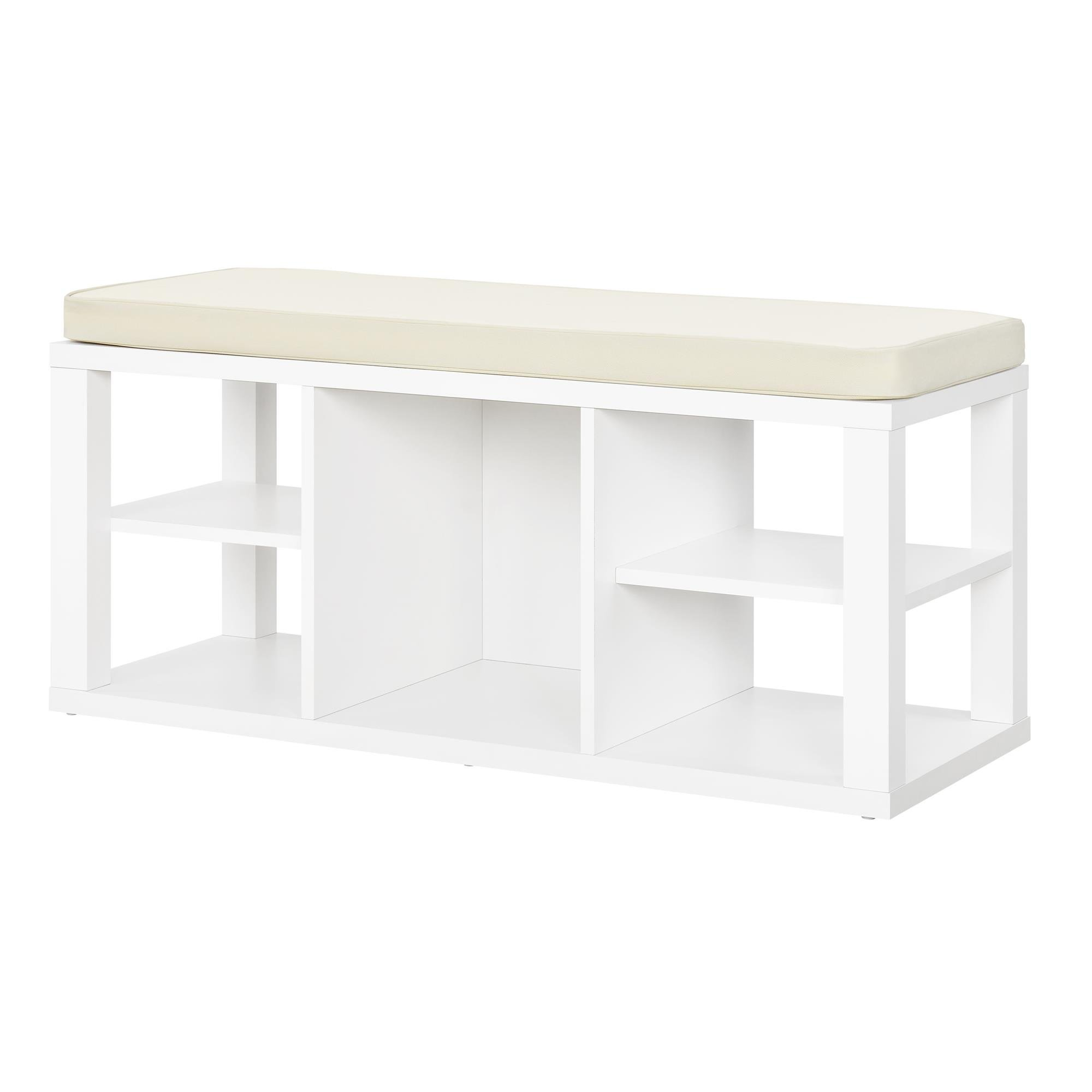 Ameriwood Home Parsons Storage Bench, White by Ameriwood Home