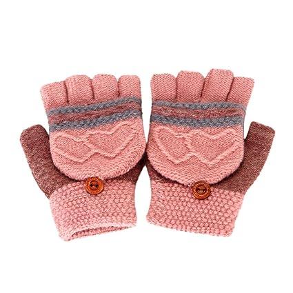 Voberry Baby Gloves, Toddler Baby Winter Warm Gloves Cute Kids Thicken  Fingerless Mitten Gloves (