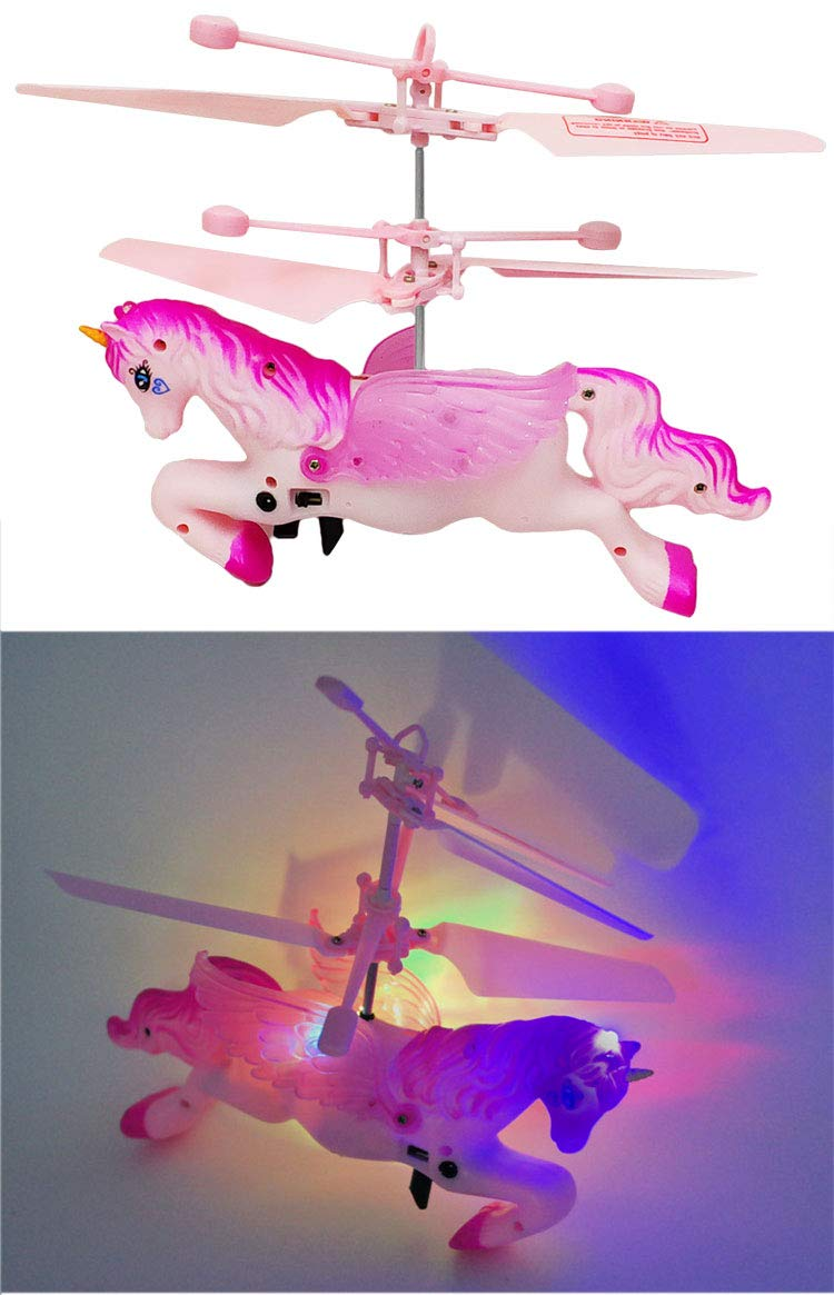 Flying Ball RC Unicorn Toys, Mini RC Flying Helicopter Unicorn Toy Gifts Hand Control Drones for Kids Boys Girls Flying Fairy Unicorn Doll Hovering Aircraft Outdoor Flying Toys Games Birthday Gift by Synmila (Image #8)