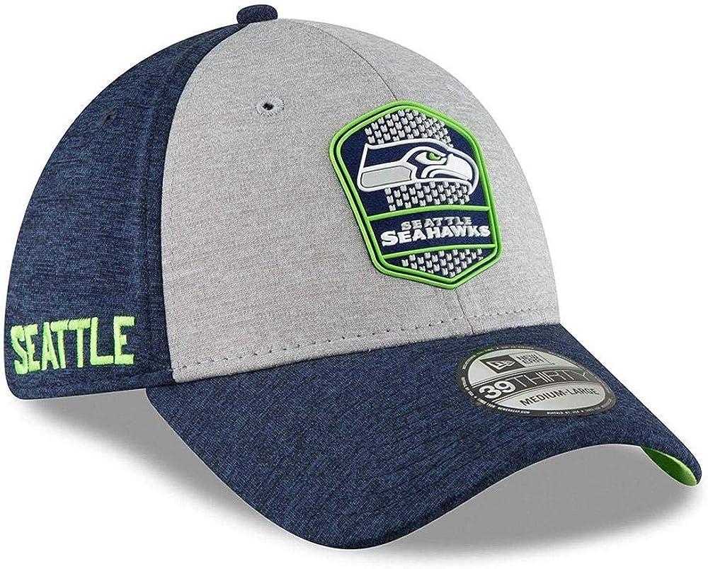 New Era 39Thirty Cap NFL Black Sideline Seattle Seahawks