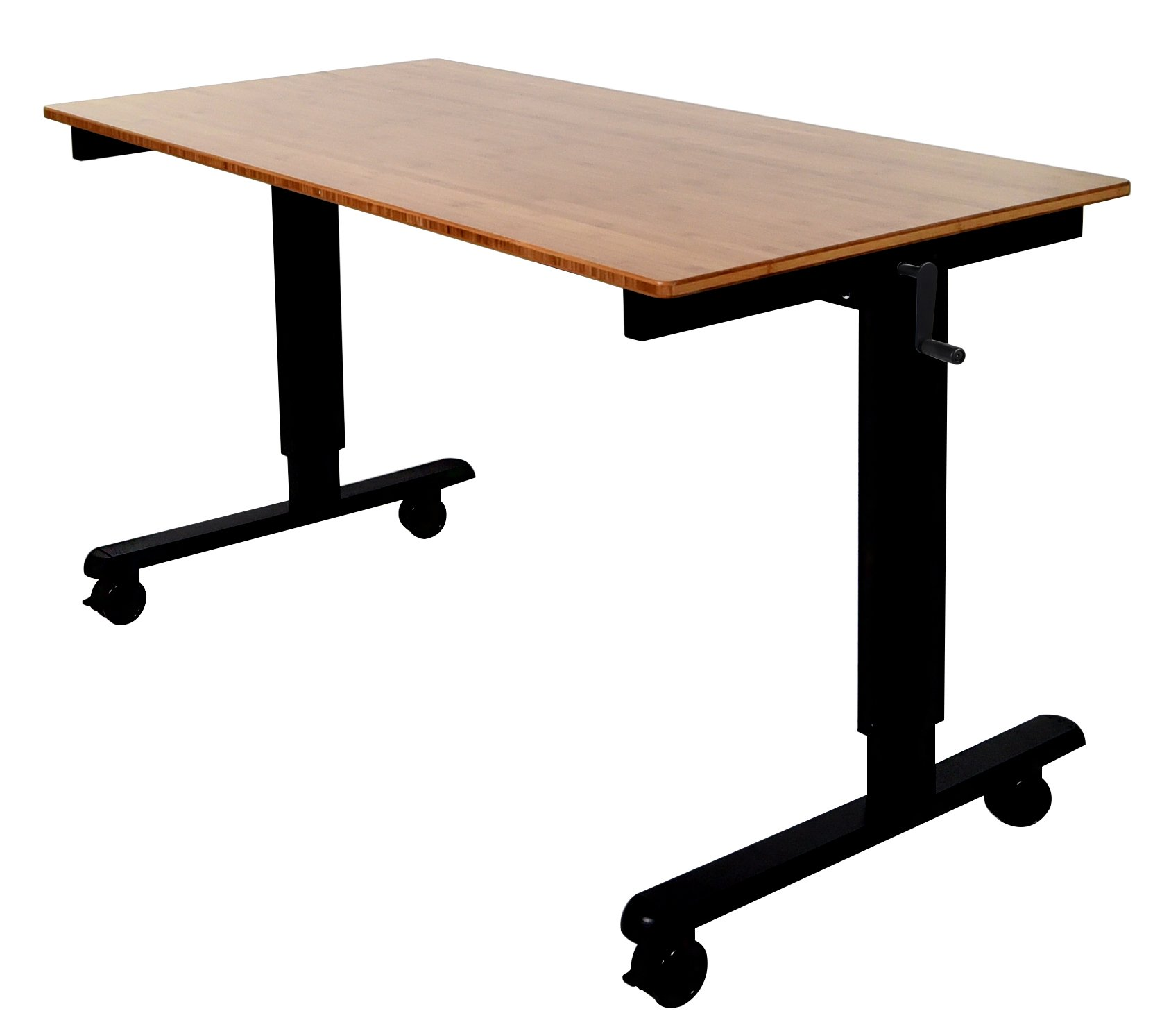 60'' Bamboo Electric Stand Up Desk (Black)