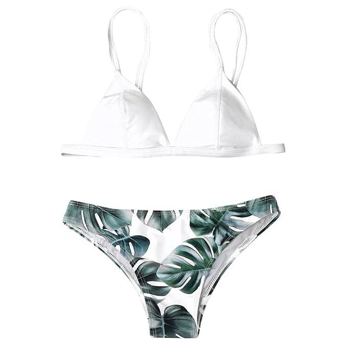 de8d7091e4d9 UomoGo® 2PCS Sexy Bikini Donna Mare Push up Applique Costume da Bagno Donna  Intero Piscina