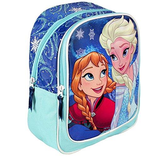 cf1070022c DISNEY Frozen - Zaino scuola asilo tempo libero 30cm con doppia zip Anna  Elsa