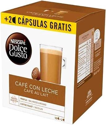 Nescafé Dolce Gusto Capsulas de Café, Au Lait 18 Unidades 450 g ...