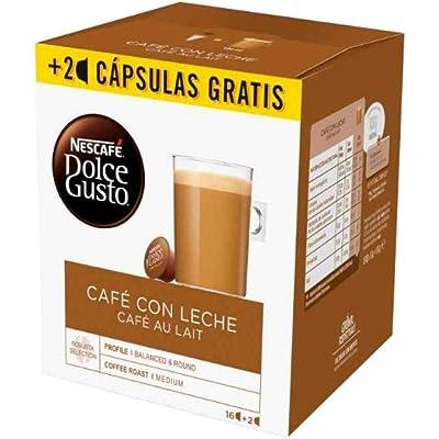 Nescafé Dolce Gusto Capsulas de Café, Au Lait 18 Unidades 450 g