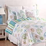 C&F Home Reef Point Coastal Quilt Set, King, Blue
