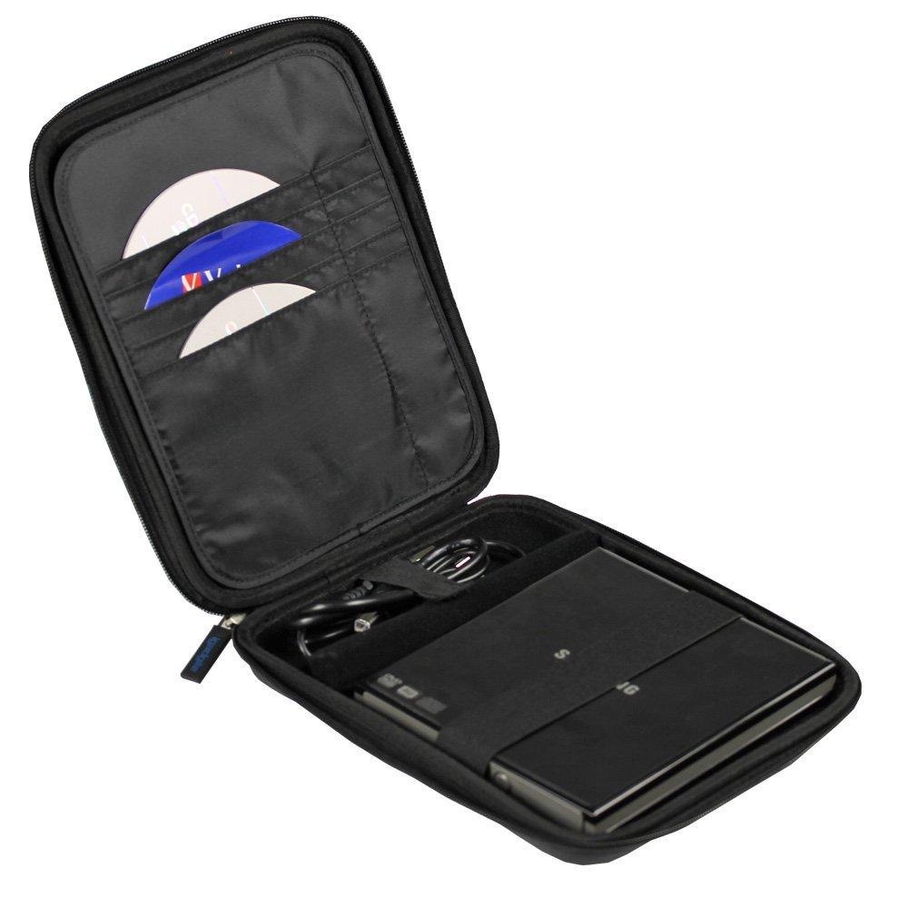 Amazon.com: Negro EVA viaje dura cubierta de la caja de la manga para USB externa de DVD Blu-Ray CD Regrabadora / Escritor: Health & Personal Care
