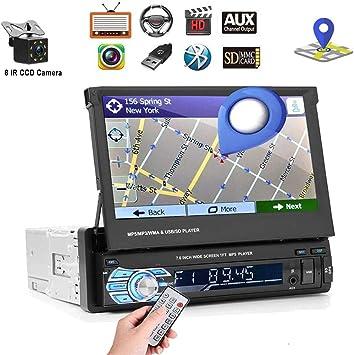 Radio de coche - Podofo 1 DIN Car Stereo GPS Navigation Receptor ...