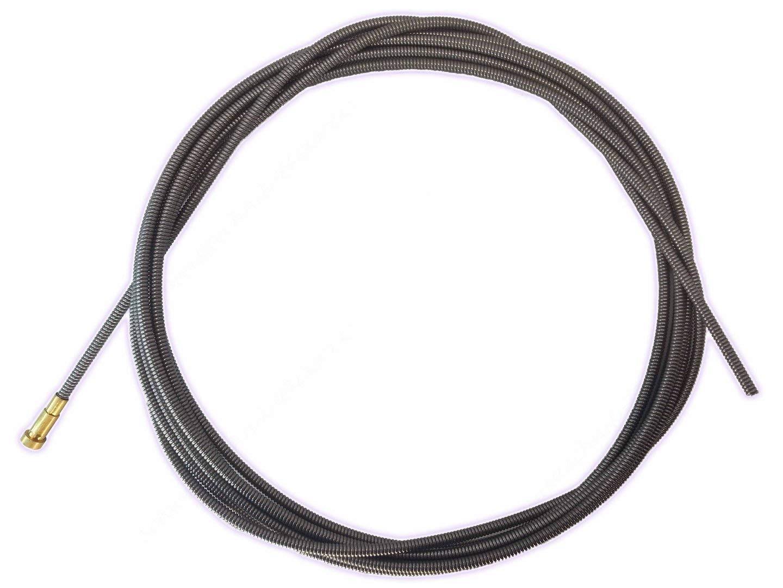 3 m lang mit Messingspirale Teflonseele blau 0,6-1,0 mm /Ø 3,4m