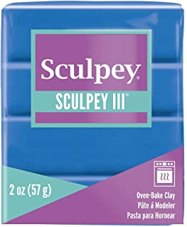 product image for Polyform Sculpey III Polymer Clay, 2-Ounce, New Blue (S302-063)