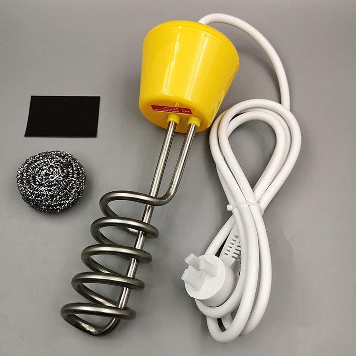 Heaviesk Calentador de suspensión Calentador rápido de Agua de Acero Inoxidable 3000 W Tina de baño Piscina Calentador de Agua de Alta Potencia