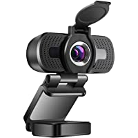 1080P Webcam with Microphone & Privacy Cover, Web Cam USB Camera for PC Laptop, Desktop Computer HD Streaming Webcam for…