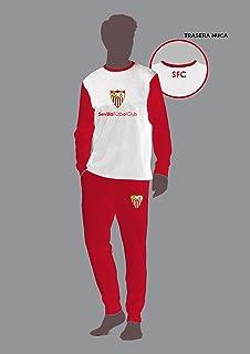 Sevilla CF Pijsev Pijama, Blanco/Rojo, L: Amazon.es: Deportes y ...