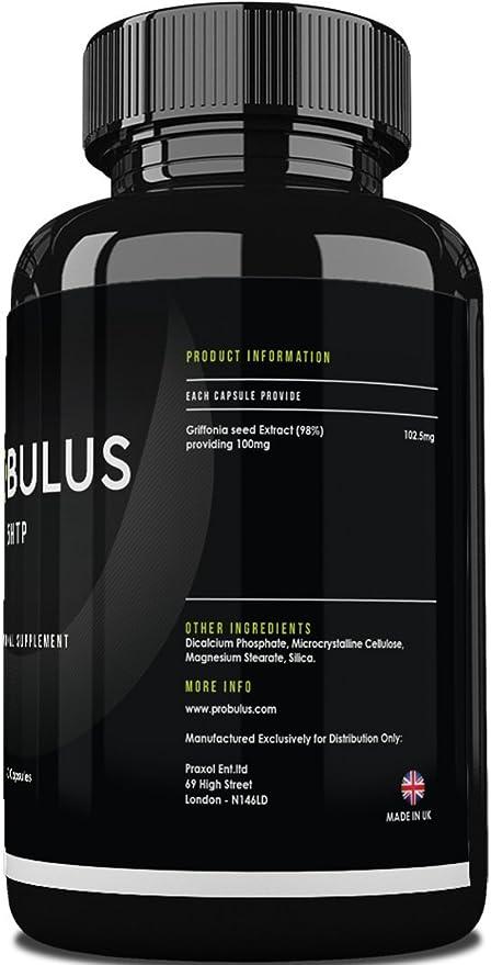 5HTP de Probulus- Extracto puro de GRIFFONIA en cápsulas 100 ...