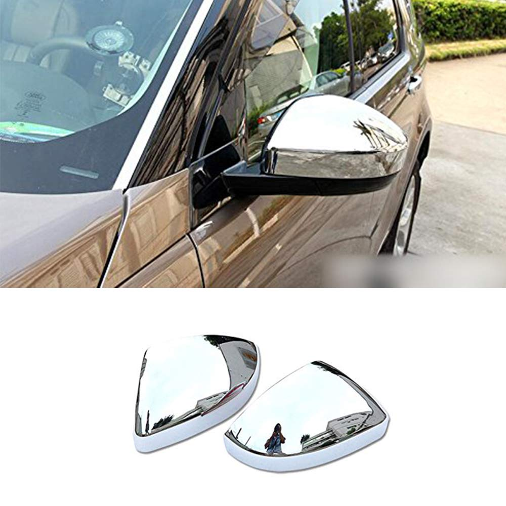 YIWANG ABS Car Side Rearview Mirror Cover Trim 2Pcs For Evoque 2016-2019,For Discovery Sport 2015-2019,For Jag F-Pace X761 Side Wing Mirror Cap Parts Carbon Fiber