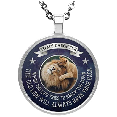 Personalized To My Daughter Necklace Jewelry Love Dad