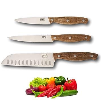 Cuchillos de madera de acacia tradicionales, juego de ...