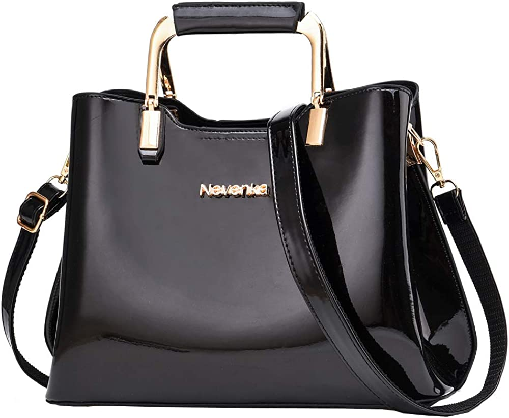 Nevenka Womens Fashion PU Leather Top Handle, Shoulder Handbag