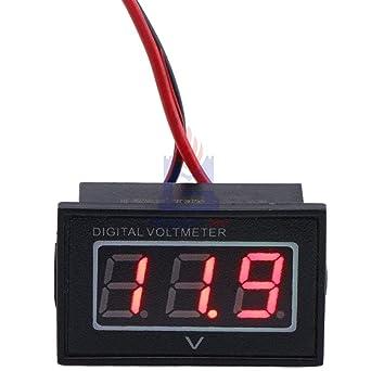 DC15-120V 36V 72V 96V Red LED Digital Voltmeter Waterproof Voltage Meter Volt Detector Tester for Electric Car Vehicle Auto: Amazon.com: Industrial & ...