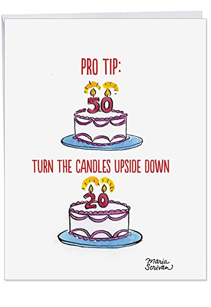 Pro Tip Birthday Big Greeting Card With Envelope 85 X 11 Inch