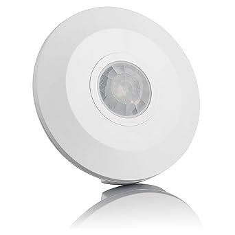 SEBSON® Detector de movimiento techo, interior, LED, montaje en techo, programable
