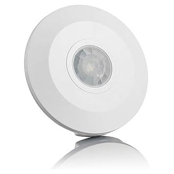 Sebson® Detector de Movimiento Techo, Interior, LED Adecuado, Montaje en Techo, programable, Sensor de Infrarrojos, Alcance 6m / 360°: Amazon.es: Hogar