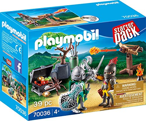 (PLAYMOBIL® 70036 Starter Pack Starter Pack Fight for The Treasure of Knights Colourful)