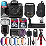 Holiday Saving Bundle for D810 DSLR Camera + 18-140mm VR Lens + Flash with LCD Display + Battery Grip + 6PC Graduated Color Filer Set + 2yr Extended Warranty + 32GB Class 10 - International Version