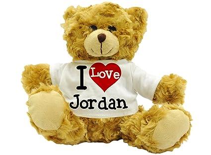 I Love Jordan - felpa linda del oso de peluche del regalo (22 cm de