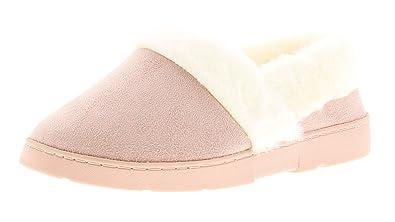 NUEVO mujer rosa pastel COMPLETO Zapatillas con imitación piel forro - rosa pastel - GB Tallas 3-8 - Rosa Claro, 39: Amazon.es: Zapatos y complementos
