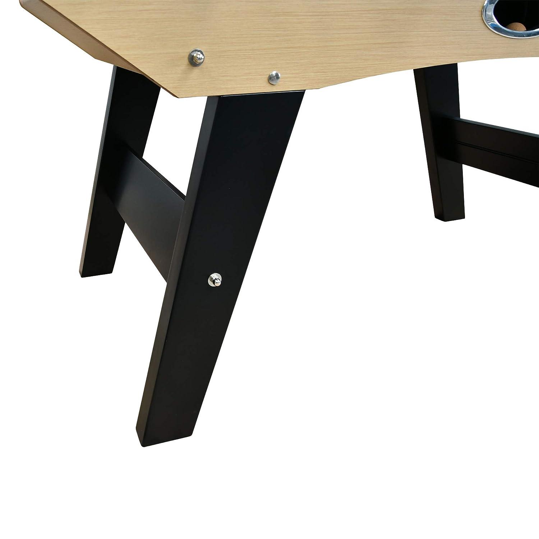 Table de Baby-Foot avec Barres t/él/éscopiques 151 x 77 x 91 cm PLAY4FUN Babyfoot Classic Couleur Bois Ch/êne et Balles Li/èges Inclus