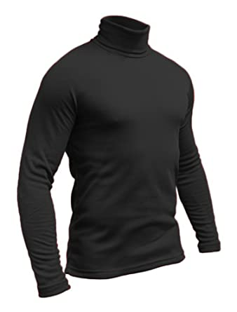 3b8434d82a9523 Hann Brooks Mens Soft Cotton Ski Golf Polo Roll Neck Top Black, Brown,  Grey, Navy, White S M L XL 2XL 3XL 4XL: Amazon.co.uk: Clothing