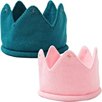 NALCY Linda Corona de Punto, Gorro de Punto para Bebé, Corona de Punto Bebé Diadema Otoño Recién Niños Sombreros…