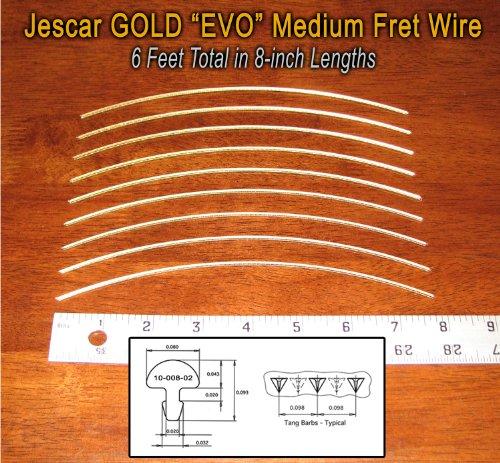 Gold Fret - Guitar/Banjo Fret Wire - Jescar GOLD Medium/Medium Gauge
