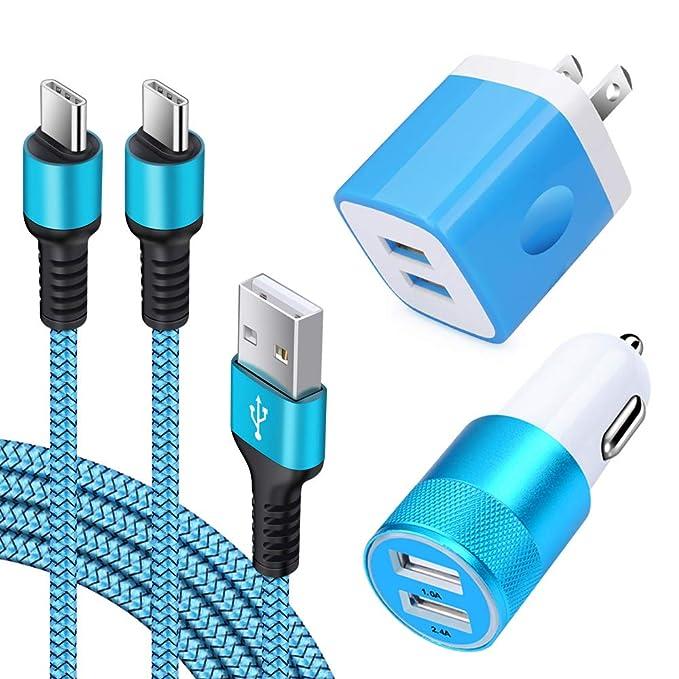 Cable tipo C para cargador de coche, adaptador de bloque de ...